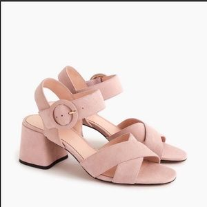 J.Crew Penny Suede Cross Strap Sandals Shoes New